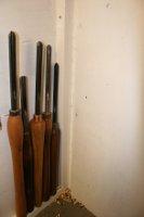 foto van een paar houtdraaibeitels